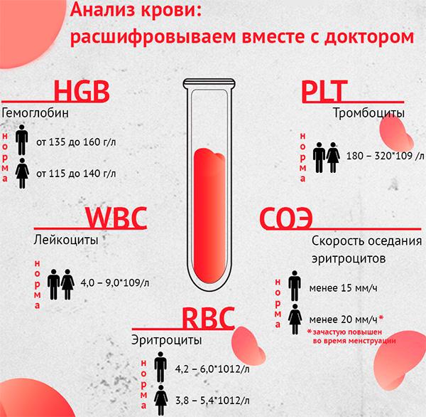 Анализ крови при месячных