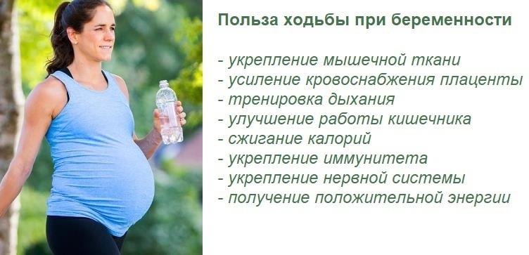 Польза ходьбы при беременности