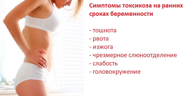 Симптомы токсикоза на ранних сроках беременности