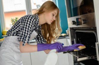 Как быстро отмыть духовой шкаф