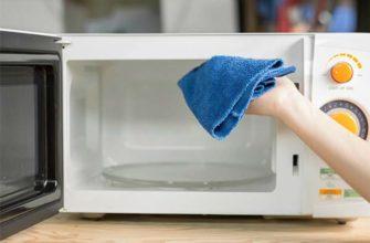 Как быстро отмыть микроволновую печь от жира